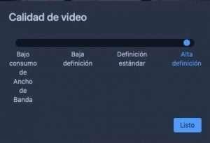 Jitsi calidad vídeo