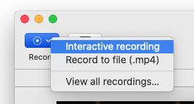 interactive recording